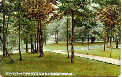Eagles Mere Pennsylvania The Village Green 1909 Post Card