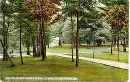 Eagles Mere Pennsylvania The Village Green 1909 Post Card - $6.00