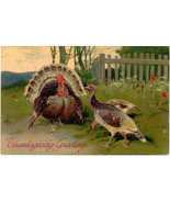 Thanksgiving Greetings P Finkenrath of Berlin 1908 Post Card - $6.00