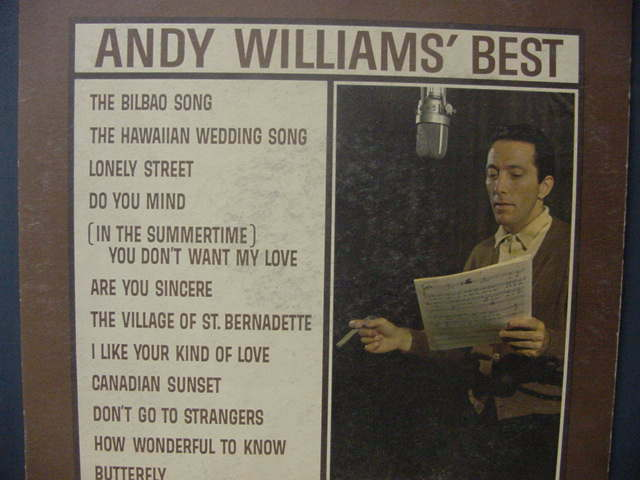 ANDY WILLIAMS' BEST LP
