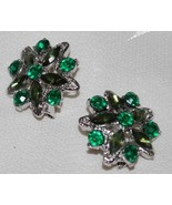 Emerald Green Crystal Brooch- Set - $8.95