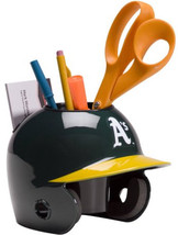 Oakland Athletics MLB Baseball Schutt Mini Batting Helmet Desk Caddy - $19.95