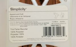 Simplicity 1868799073 Tan Faux Suede Apparel And Craft Trim 9 Yards image 3