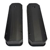 BBC Fabricated Tall Aluminum Valve Covers Big Block Chevy 396 427 454 BLACK image 4