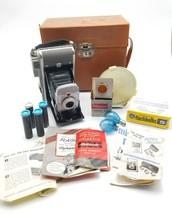 Vintage Polaroid Land Camera Model 80 w/ Case Flash Bulbs Filter & Manua... - $33.42