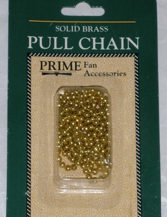 Pull Chain - Solid Brass