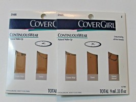 Lot of 2 CoverGirl Continuous Wear Natural Make-Up Oil-Free Dark - $6.99