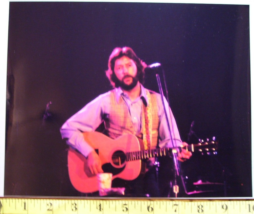 "Eric Clapton ""Hair & Beard"" Days 8X10 Color Print 1977!"