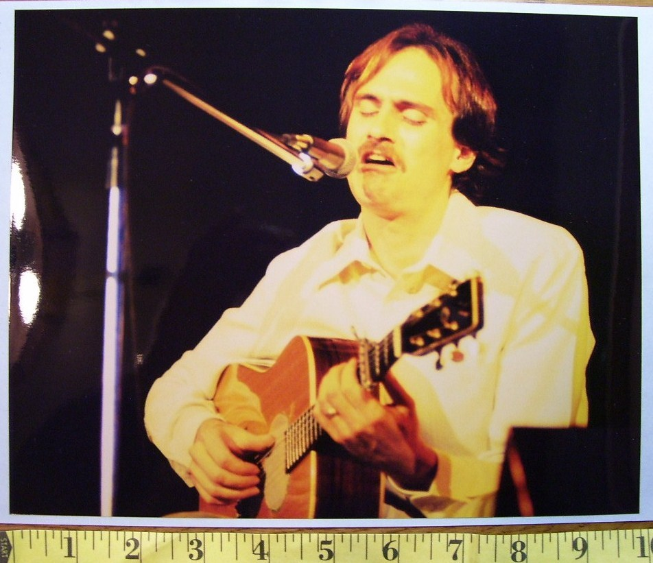 "James Taylor ""Steamroller Tour"" 8X10 Color Print 1977!"