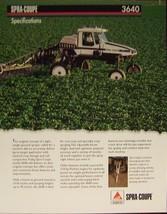 2007? Spra-Coupe 3640 Spray Rig Specifications Brochure - $7.00