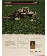 2007? Spra-Coupe 3640 Spray Rig Specifications Brochure - $7.00