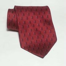 "NEO Bill Blass Men Silk Dress Red Tie 4"" wide 59"" long Made in USA - $9.65"