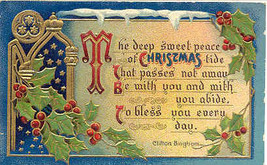 Sweet Christmas Peace Clifton Bingham Vintage 1912 Post Card - $3.00