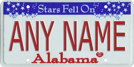 Custom Personalized Alabama golf cart, mobility scooter, go cart license plate - $12.99