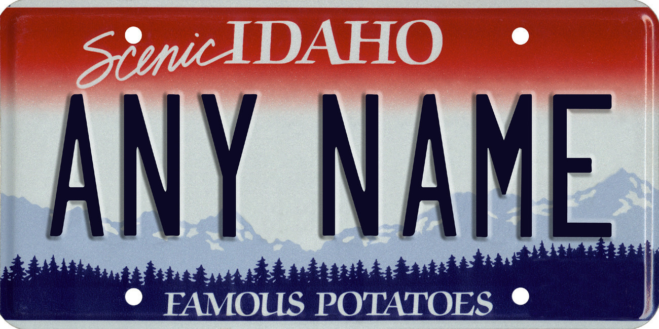 Custom Personalized Idaho golf cart, mobility scooter license, go cart plate