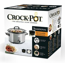 Pot Of Slow Cooker Electric Crock-Pot 118.3oz, Compliant For Oven (Silver) - $153.90