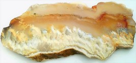 White Plume Agate 2 Gemstone Slab Cabbing Rough - $4.60