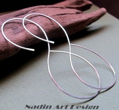Infinity shaped Hoop Earrings. Elegant number 8 Hoops - $35.00