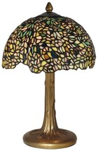 New Dale Tiffany Wisteria Table Lamp  Green Hand-Crafted - $510.00