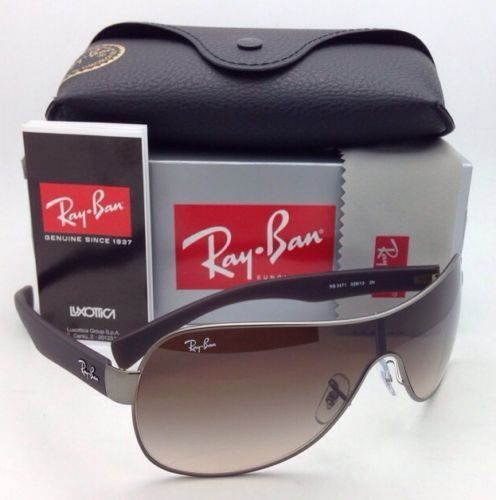 bc8ef16eac4 12. 12. Previous. New RAY-BAN Sunglasses RB 3471 029 13 Matte Gunmetal  Frame Brown Gradient Lenses