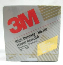 "New 3M High Density Formated 3.5"" Floppy Discs 10 Count DS HD Diskettes ... - $12.86"