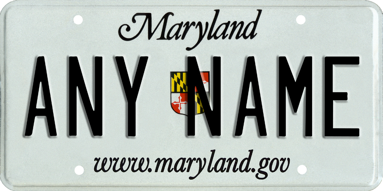 Custom Personalized Maryland golf cart, mobility scooter license, go cart plate