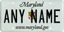 Custom Personalized Maryland golf cart, mobility scooter license, go car... - $12.99