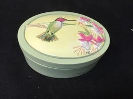 "Marjolein Bastin Trinket Box Hummingbird Fuscia w Quote  ""Nature's Mirac... - $10.29"