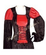 Dress Gown Costume Renaissance Medieval Goth Lace Up Long M/L Halloween - $69.99
