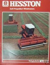 1985 Hesston 6455, 6555, 6655 Self-Propelled Windrowers Brochure - $10.00
