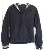 US Navy Wool Jumper Man's Flannel Blue Shirt Helantisubron 5 Nightdipper... - $19.64