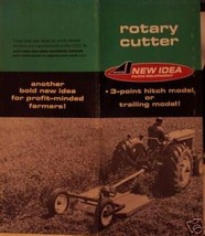 1966 New Idea Rotary Mowers Original Sales Brochure - $7.00