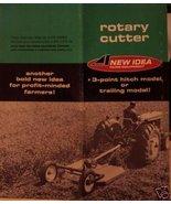 1966 New Idea Rotary Mowers Original Sales Brochure - $7.00