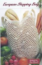 European Shopping Bag Crochet Pattern~RARE~HTF - $4.99