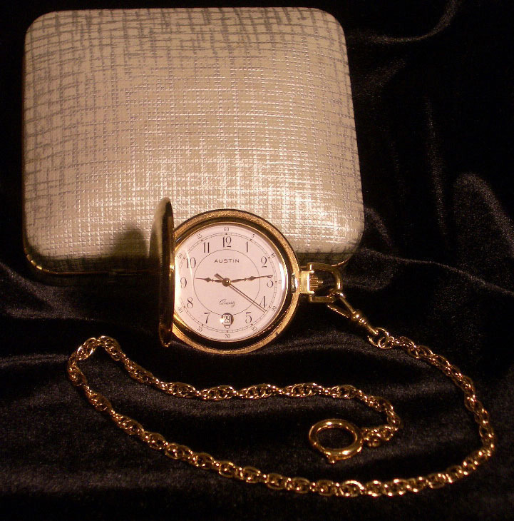 Austin Pocket Watch or Necklace Jewelry Vintage LaSorda Est