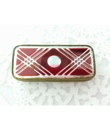 Antique Bohemian Red Cut to Clear Glass Jewelry Patch Mirrored Camphor B... - $282.15