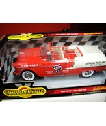 American Muscle 1:18 Scale 1955 Chevy Indy Nasc... - $28.00