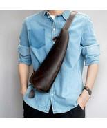 On Sale, Horse Leather Men Chest Pack, Handmade Chest Bag, Messenger Bag - $125.00