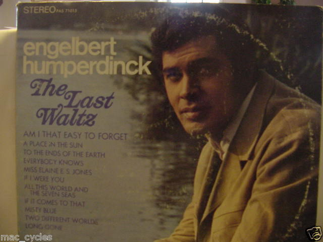 ENGELBERT HUMPERDINCK THE LAST WALTZ LP