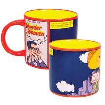This Calls for Wonder Woman Comic Art Disappearing 14 oz Ceramic Mug DC NEW - $12.59