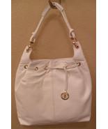 NWT BCBG MAXAZRIA White Leather Classic Hobo Bag Handbag NEW (MAKE AN OF... - $256.11