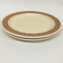 "Set of 2 Vintage Ginger Anchor Hocking 10-3/8"" Plates Ironstone  USA - $18.81"