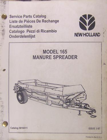Primary image for New Holland 165 Manure Spreader Parts Manual