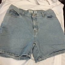 Calvin Klein Jeans Womens Easy Shorts Denim 10 Blue Jeans 100% Cotton Clothing - $20.44