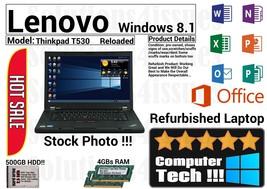 Lenovo Thinkpad T530 Intel i5, 4GBs Ram 500GB HDD Windows 8.1 Loaded - G... - $149.99