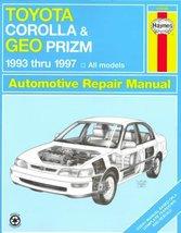 Toyota Corolla & Geo Prizm Automotive Repair Manual [Dec 01, 1999] Store... - $8.86