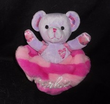 MATTEL 2001 BARBIE PURPLE BELLE TEDDY BEAR W/ PINK BAG STUFFED ANIMAL PL... - $22.96