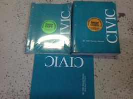 2001 HONDA CIVIC Service Shop Repair Manual Set OEM W Supplement & Body - $98.95