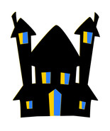Halloween House H1-T-Shirt-Digital Clipart-SVG-Website-Gift Tag-Gift Car... - $6.00