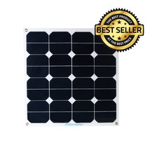 Solar Panel 50W Bendable Photovoltaic PV Thin Lightweight Sunpower Modul... - $125.65
